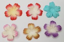 100 x 2.5 cm 2 tone COLOUR DAISIES Petals Mulberry Paper Flowers (6 colours)